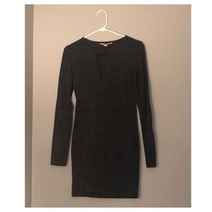 Dark gray bodycon dress
